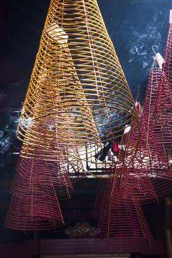 Vietnam, Ho Chi Minh City. Cholon, Chinatown Area, Phuoc an Hoi Quan Pagoda, Interior by Walter Bibikow