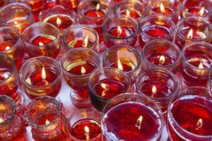 Vietnam, Ho Chi Minh City. Cholon, Chinatown Area, Thien Hau Pagoda, Votive Candles by Walter Bibikow