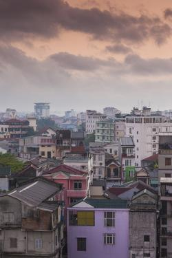 Vietnam, Hue. Elevated City View, Dawn by Walter Bibikow
