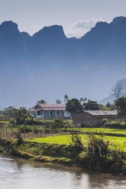 Vietnam, Tuan Giao, Village View by Walter Bibikow