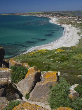 View From the Spanish Tower, Tharros, Sardinia, Italy by Walter Bibikow