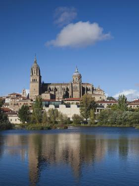 View from the Tormes River, Salamanca, Spain by Walter Bibikow