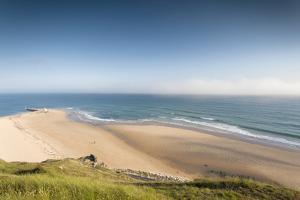 View of Cap De Carteret Beach, Barneville-Carteret, Normandy, France by Walter Bibikow