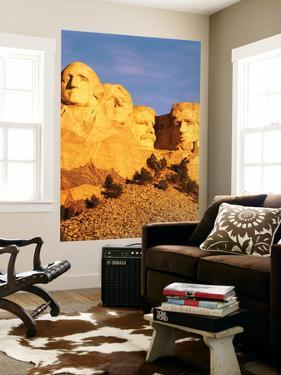 View of Mount Rushmore National Memorial, Keystone, South Dakota, USA by Walter Bibikow