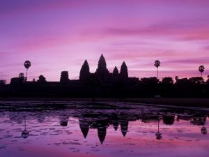 View of Temple at Dawn, Angkor Wat, Siem Reap, Cambodia by Walter Bibikow