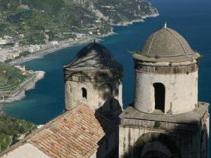 View of the Amalfi Coastline from Villa Rufolo, Ravello, Campania, Italy by Walter Bibikow