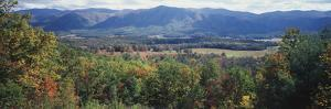 View of the Great Smoky Mountains, Cades Cove, Tennessee, USA by Walter Bibikow