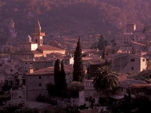 View of Town and Cartuja de Valledemossa, Mallorca, Balearics, Spain by Walter Bibikow