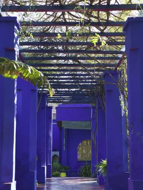 Villa Exterior, Jardin Majorelle and Museum of Islamic Art, Marrakech, Morocco by Walter Bibikow
