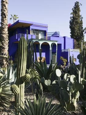 Villa Exterior, Jardin Majorelle and Museum of Islamic Art, Marrakech, Morocco by Walter Bibikow