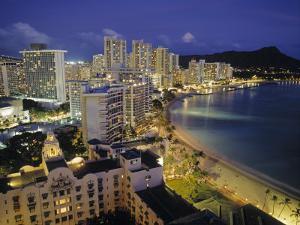 Waikiki Beach, Honolulu, Oahu, Hawaii, USA by Walter Bibikow
