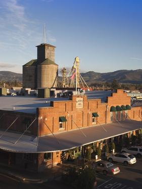 Warehouses Along the Napa River, Napa, Napa Valley Wine Country, California, Usa by Walter Bibikow
