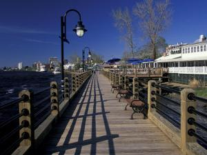 Water Street Walkway along Cape Fear River, Wilmington, North Carolina by Walter Bibikow