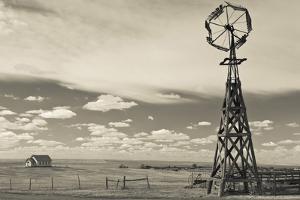 Windmill, 1880 Town, Pioneer Village, Stamford, South Dakota, USA by Walter Bibikow