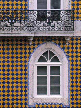 Window, Bairro Alto, Lisbon, Portugal by Walter Bibikow