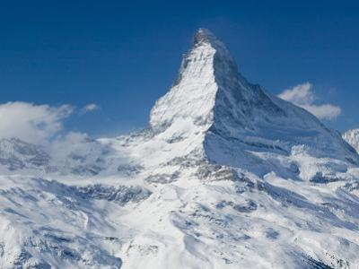 Winter View of The Matterhorn, Blauherd, Zermatt, Valais, Wallis, Switzerland by Walter Bibikow