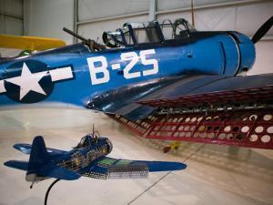 WW2 Era SBD Dauntless Naval Dive Bomber, Palm Springs Air Museum, Palm Springs, California, USA by Walter Bibikow