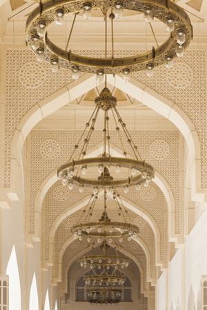 Qatar, Doha, Abdul Wahhab Mosque, The State Mosque of Qatar, courtyard walkway