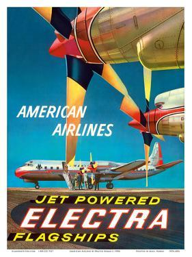 American Airlines - Jet Powered Electra Flagships - Lockheed L-188s by Walter Bomar