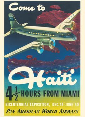 Come to Haiti - Pan American World Airways by Walter Bomar