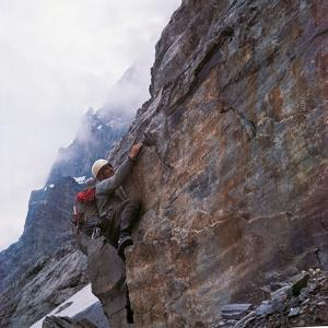Walter Bonatti Training Before Climbing the Mont Blanc