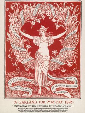 A Garland for May Day, 1895 by Walter Crane