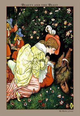Beauty and the Beast, In the Woods, c.1900 by Walter Crane