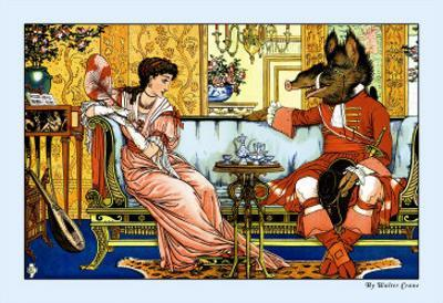 Beauty and the Beast, The Courtship, c.1900 by Walter Crane