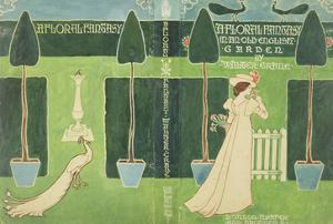 Book Jacket Design for 'A Floral Fantasy in an Old English Garden' by Walter Crane, C.1890S (Litho) by Walter Crane