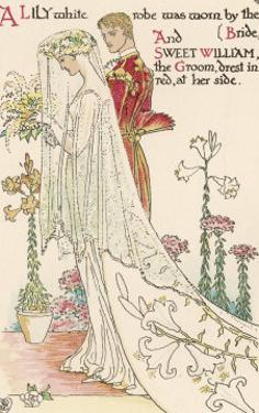 Crane a Flower Wedding by Walter Crane