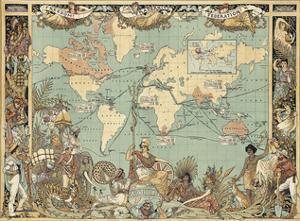 Extent of the British Empire in 1886 by Walter Crane