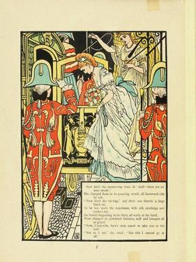 Illustration for Fairy Tale Cinderella by Walter Crane