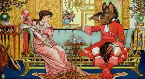 "Illustration from ""Beauty and the Beast,"" circa 1900 by Walter Crane"