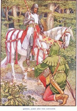 Little John and the Knight, C.1920 by Walter Crane