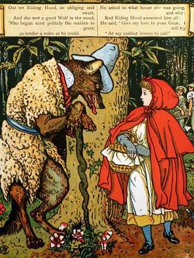 'Little Red Riding Hood', the Wolf Accosting Her in the Forest by Walter Crane