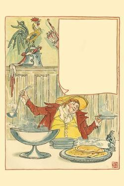 Mardi Gras Ladled Steaming Chicken Soup into the Bowl for September 2nd by Walter Crane
