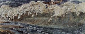 Walter Crane (Neptune's Horses) Art Poster Print
