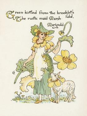 Plants, Caltha Palustris by Walter Crane
