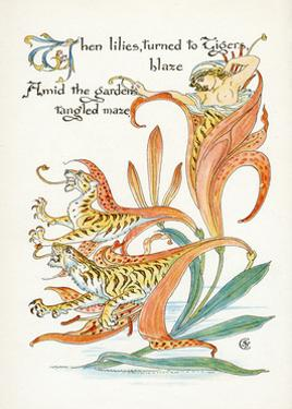 Plants, Lilium Tigrinum by Walter Crane