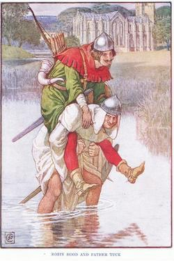 Robin Hood and Father Tuck, C.1920 by Walter Crane