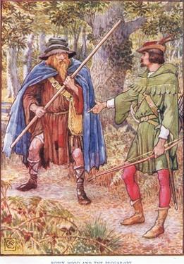 Robin Hood and the Beggar, C.1920 by Walter Crane