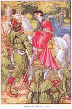Robin Hood and the Lady, C.1920 by Walter Crane