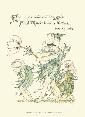 Shakespeare's Garden I (Anemone) by Walter Crane