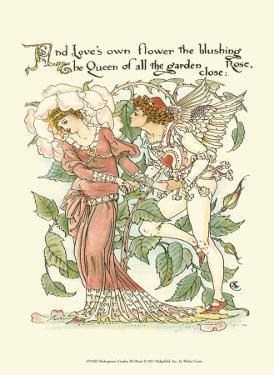 Shakespeare's Garden III (Rose) by Walter Crane
