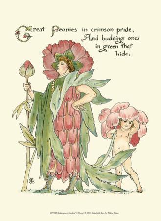 Shakespeare's Garden V (Peony) by Walter Crane