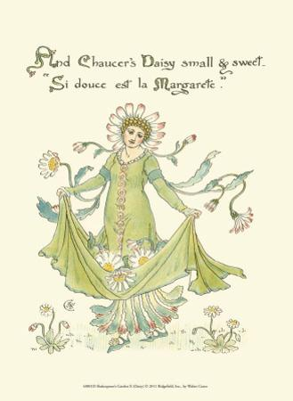 Shakespeare's Garden X (Daisy) by Walter Crane