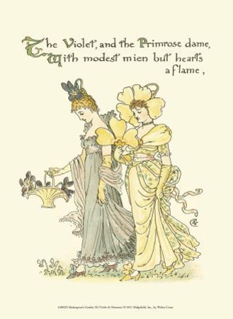Shakespeare's Garden XI (Violet & Primrose) by Walter Crane