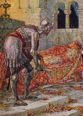 'Sir Lancelot in the Chapel Perilous', 1911 by Walter Crane