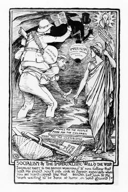 Socialism and the Imperialistic Will O the Wisp, 1901 by Walter Crane