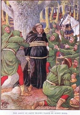The Abbot of Saint Marie's Taken by Robin Hood, C.1920 by Walter Crane